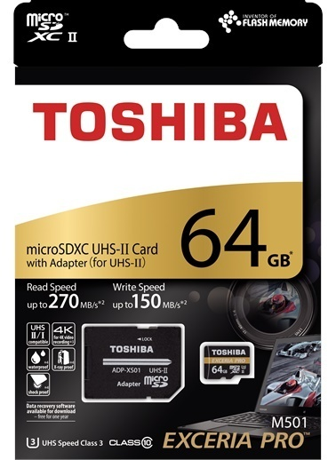 Toshiba 64Gb Mıcro Sdxc Uhs-Iı 270/150 Excerıa Pro Renkli